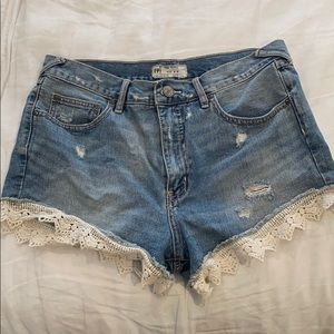 Free People Lacey Denim Cutoff Shorts size 30